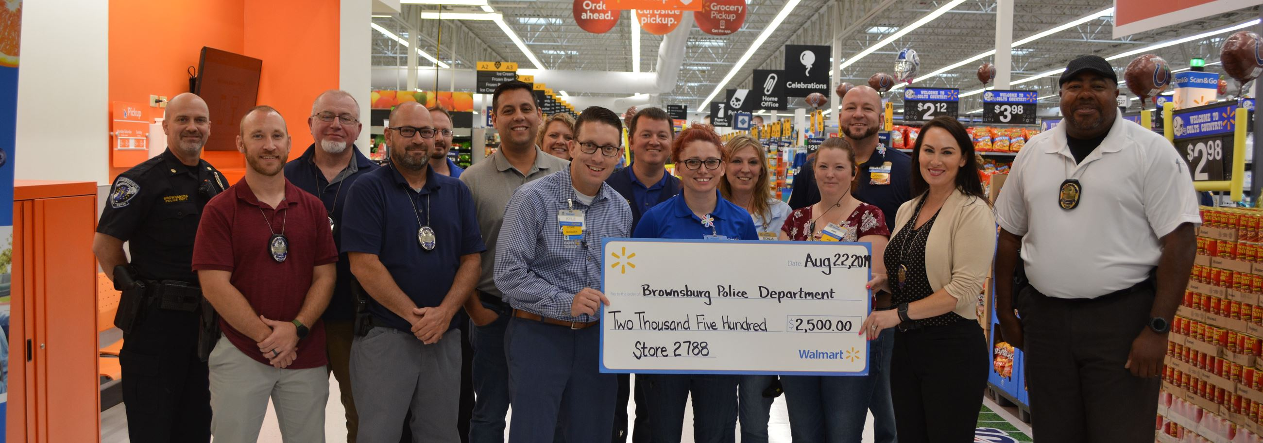 Donation From Wal-Mart To Investigations Unit