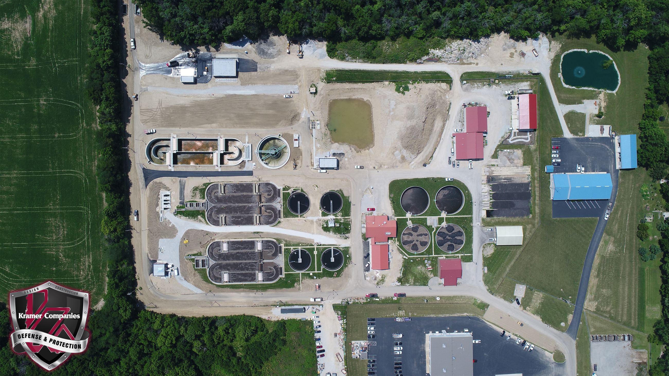 Aerial Photo of the Town of Brownsburg Wastewater Treatment Plant